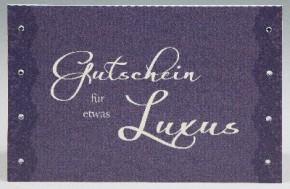 Klappkarte für Geldgeschenke 2239-052 Gutschein für etwas Luxus
