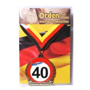 Orden 40 auf Karte zum480. Geburtstag