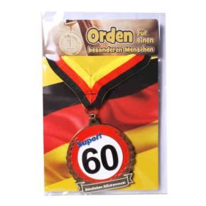 Orden 60 auf Karte zum 60. Geburtstag
