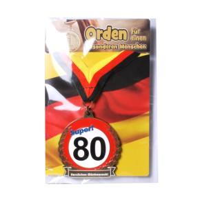 Orden 50 auf Karte zum 50. Geburtstag