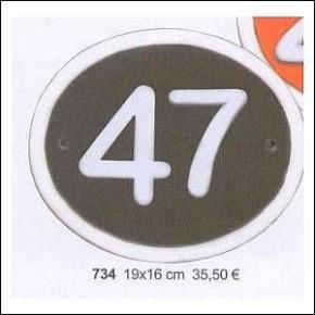 Haustürschilder Hausnummern 1