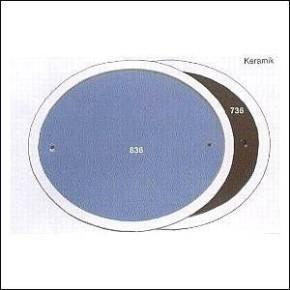 Haustürschilder oval blau