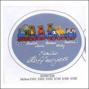 Haustürschilder oval Familie 1
