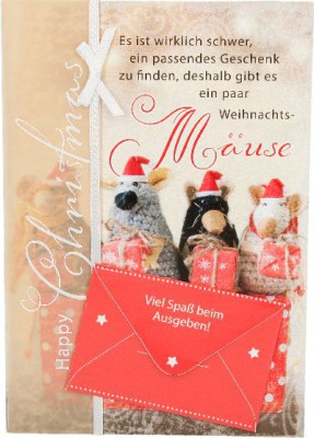 Emotions Weihnachtsklappkarte Es ist wirklich schwer ein passendes ...  für Geldgeschenke 1 Karte
