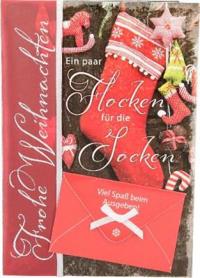 Emotions Weihnachtsklappkarte Ein paar Flocken für die Socken. Viel...  für Geldgeschenke 1 Karte