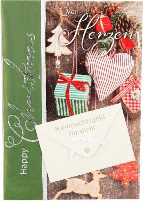 Emotions Weihnachtsklappkarte Von Herzen - Weihnachtsgeld für dich!  für Geldgeschenke 1 Karte