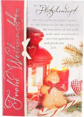 Emotions Weihnachtsklappkarte Bei Plätzchenduft und hellem ... 1480-051