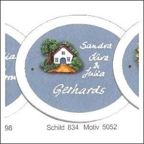Haustürschilder Klassik Oval 3