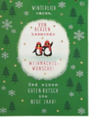 Lustige Weihnachtskarte Klappkarte Winterlich warme, von Herzen kommende...