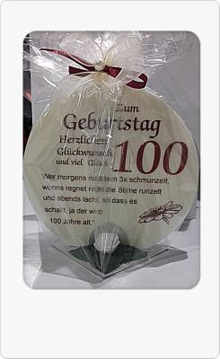 Geschenk Kerze 100 zum 100. Geburtstag