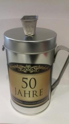 Spardose Spendenkasse mit Spruch zum 50. Geburtstag