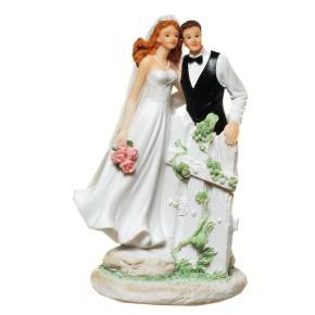 Figur zur Hochzeit Brautpaar am Zaun Artikel 21855