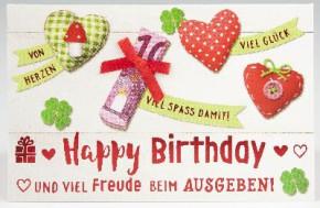 Klappkarte für Geldgeschenke 2239-012 Happy Birthday und viel Freude beim...