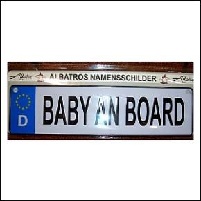 LKW Schild Baby An Board