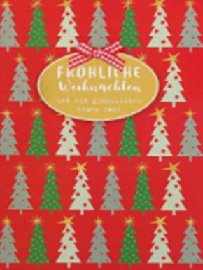 Lustige Weihnachtskarte Klappkarte Fröhliche Weihnachten und ein glückliche