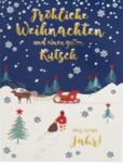 Lustige Weihnachtskarte Klappkarte Fröhliche Weihnachten und einen guten...