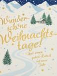 Lustige Weihnachtskarte Klappkarte Wunderschöne Weihnachtstage! Und...