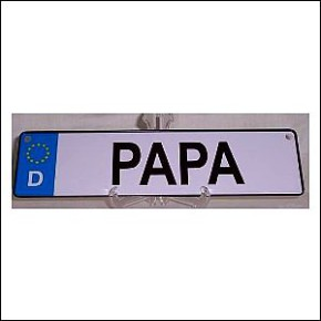 Namensschild Papa