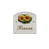 Haustürschild Bogen Sonnenblume 420
