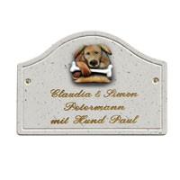 Haustürschild Bogen Hund 421
