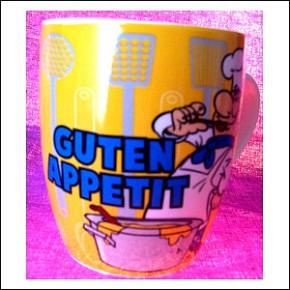 Tasse mit Spruch Guten Appetit
