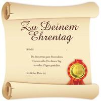 Risen Schild Ehrentag