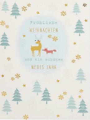 Lustige Weihnachtskarte Klappkarte Fröhliche Weihnachten und ein schönes...