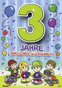 lustige Geburtstagskarte zum 3.