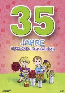 lustige Geburtstagskarte zum 35.