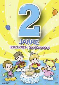 lustige Geburtstagskarte zum 2.
