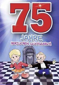 lustige Geburtstagskarte zum 75.
