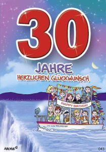 lustige Geburtstagskarte 30