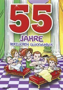 lustige Geburtstagskarte zum 55.