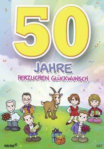 lustige Geburtstagskarte 50