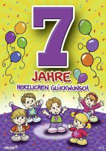 lustige Geburtstagskarte zum 7.