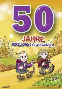 lustige Geburtstagskarte zum 50.