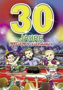 lustige Geburtstagskarte zum 30.