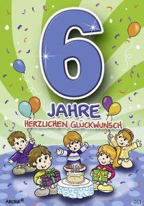 lustige Geburtstagskarte zum 6.
