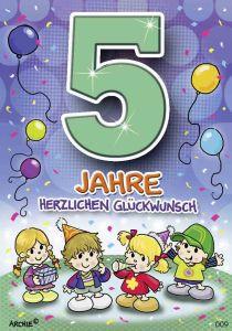 lustige Geburtstagskarte zum 5.