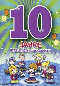 lustige Geburtstagskarte zum 10.
