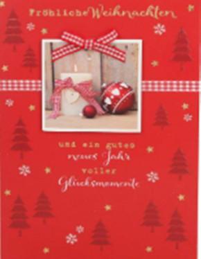 Lustige Weihnachtskarte Klappkarte Fröhliche Weihnachten und ein gutes...