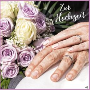 Geburtstagskarte mit Musik 3868-048 Zur Hochzeit