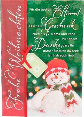 Emotions Weihnachtsklappkarte Für die besten Eltern! Es ist ein Geschenk..   für Geldgeschenke 1 Karte