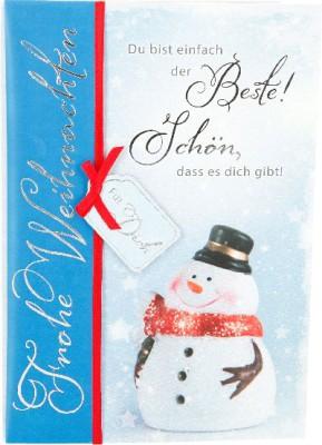 Emotions Weihnachtsklappkarte022  für Geldgeschenke 1 Karte