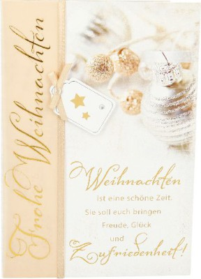 Emotions Weihnachtsklappkarte 036 für Geldgeschenke 1 Karte