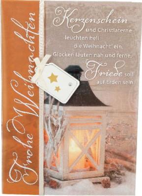 Emotions Weihnachtsklappkarte 037 für Geldgeschenke 1 Karte