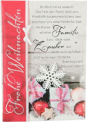 Emotions Weihnachtsklappkarte 038 für Geldgeschenke 1 Karte