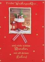 Lustige Weihnachtskarte Klappkarte Frohe Weihnachten und viele schöne...
