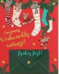 Lustige Weihnachtskarte Klappkarte Ein paar Weihnachtsmäise! Frohes Fest
