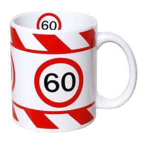 Kaffeetasse mit Zahl zum Geburtstag Becher 60